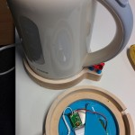 The kettle was to be connected via a current sensor which would recognise when the appliance was drawing current or not.